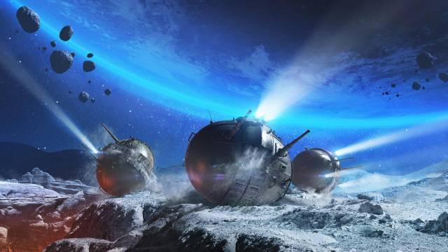 Танки на воде и на Луне