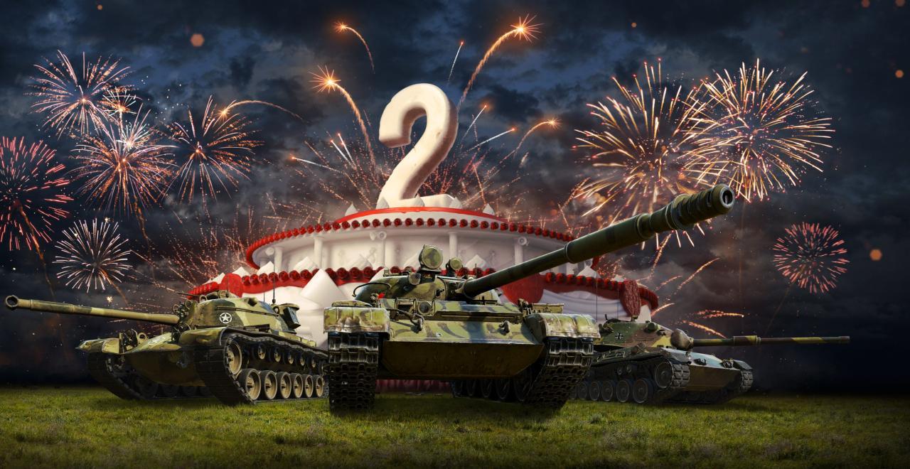 Картинка с танком с днем рождения
